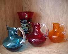 9884 New Studio vase and 3 9649 Jugs