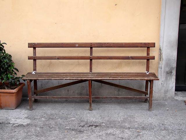 Social club bench, Scali Finocchietti, Livorno