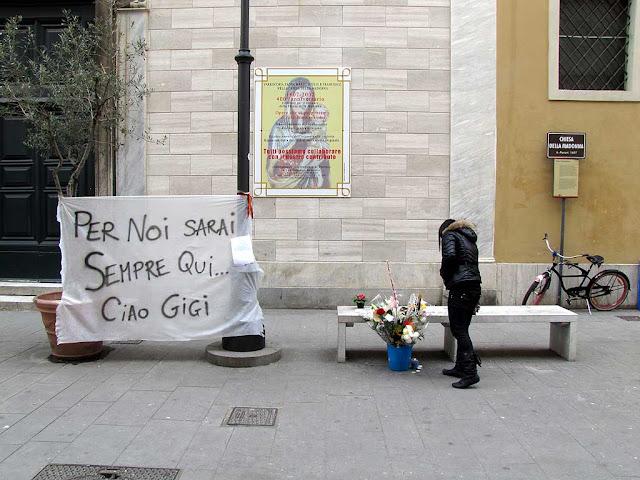 Gigi's bench, via della Madonna, Livorno