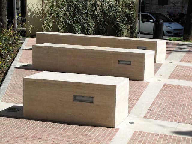 Benches in Piazza Caproni, Livorno