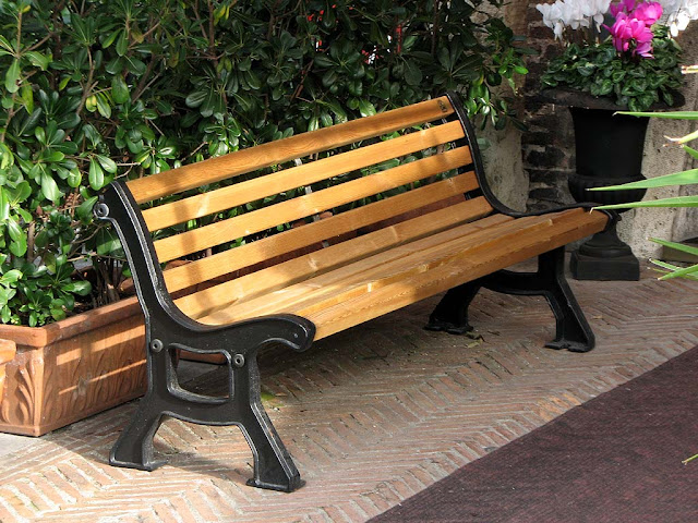 Bench outside the Hotel Gran Duca, Livorno