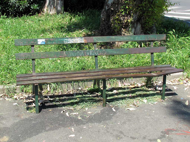Junkies bench, undisclosed location, Livorno