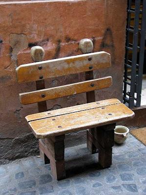 bench, via della Reginella