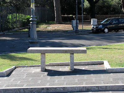 Bench, piazza di Porta San Giovanni, Rome