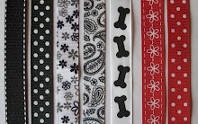 Wide Bow Patterns: Black, White and Red