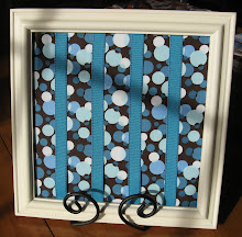 Blues and Brown Frame Bow Holder