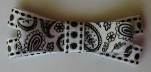 Black and White Paisley Double Layer Bow
