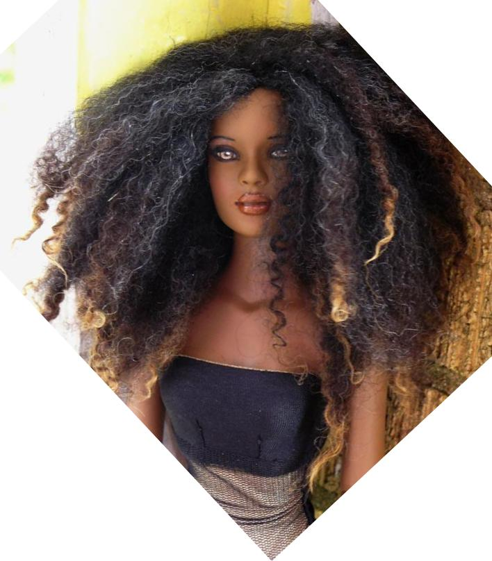 Black Barbie Dolls with Natural Hair