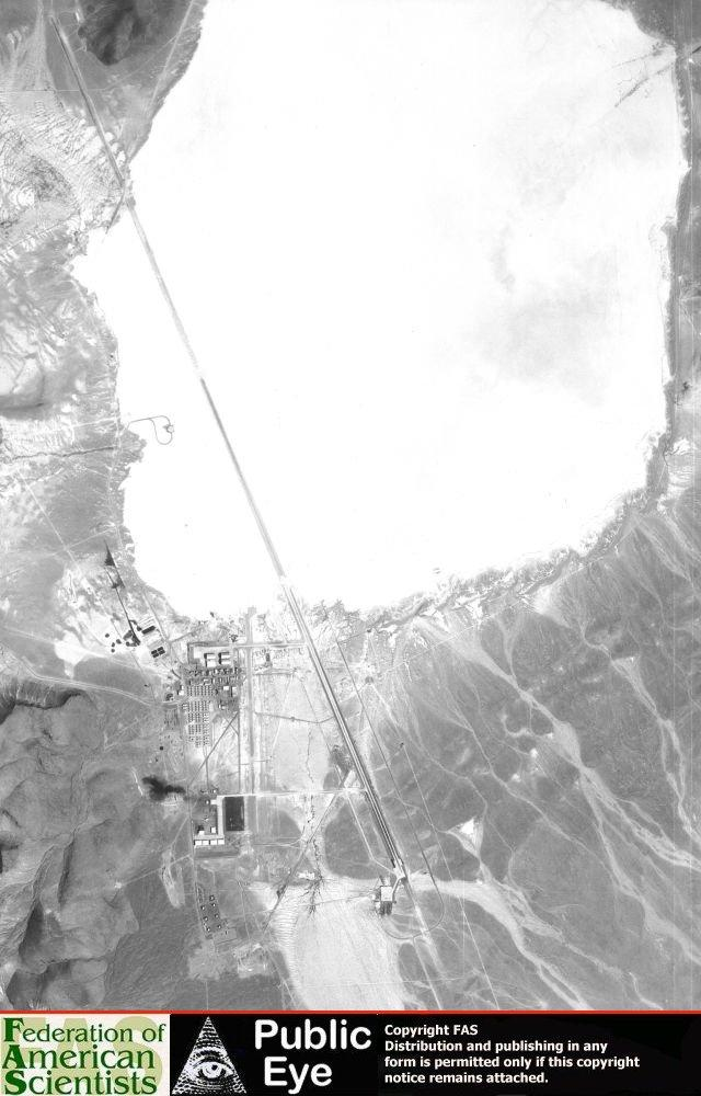 The soviets took this picture of area 51 from an orbiting satellite