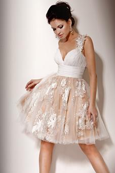 Zapatos para vestido novia corto