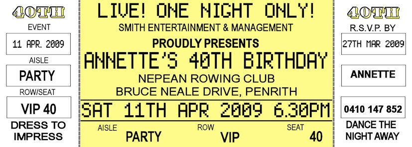 Concert Ticket Invitation Template Free – Concert Ticket Birthday Invitations