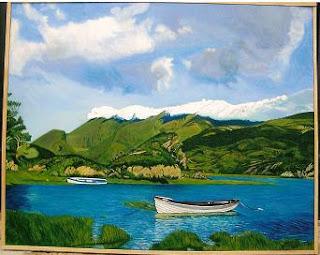 Cuadro al óleo de Pilar Ochoa titulado: Calma total