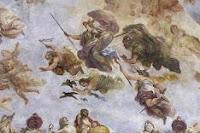 Sección del fresco del pintor Luca Giordano la Apoteosis de la Monarquía española