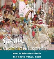 Cartel de la exposición de pintura: Sorolla, visión de España