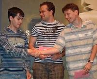 Ian Nepomniachtchi, Pavel Eljanov y Zoltan Almasi en el XV Abierto de Ajedrez Ordix del Clásico Maguncia Mainz 2008