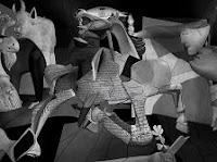 Animación del cuadro lienzo Guernica de Picasso en 3D