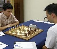 David Lariño contra Julen Arizmendi en la final del LXXIII Campeonato de España de Ajedrez