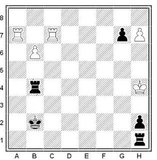 Problema ejercicio de ajedrez número 517: Estudio de Velimir Kalandadze (1979)