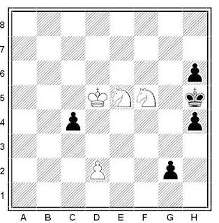 Problema ejercicio de ajedrez número 545: Estudio de C. Behting (1906)
