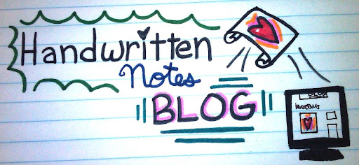 Handwritten Notes Blog