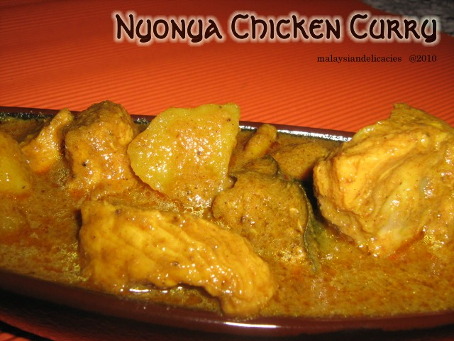 Nyonya Chicken Curry Malaysian Delicacies