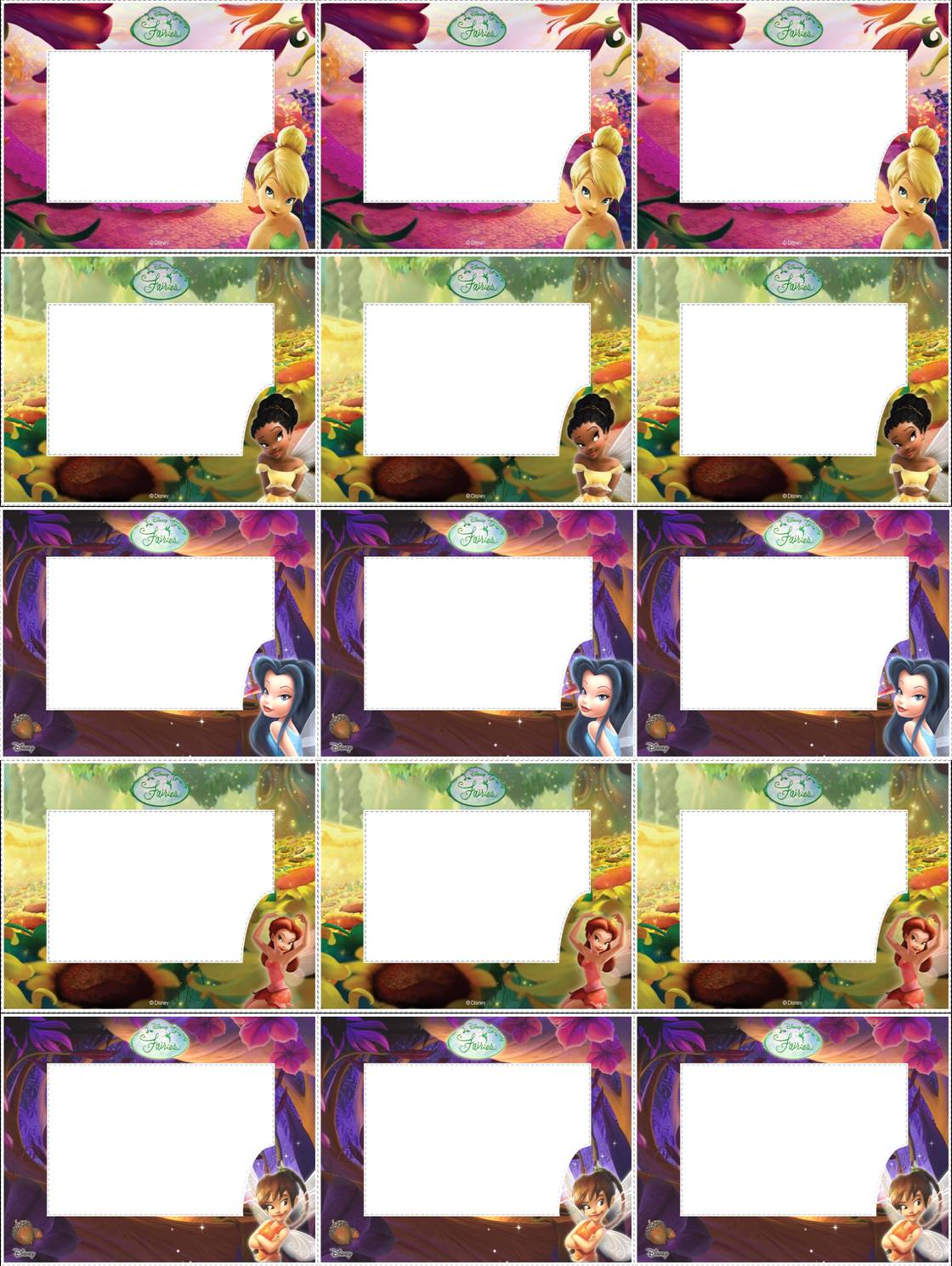 Etiquetas Para Livros Escolares Das Fadas Disney  Disney Fairies