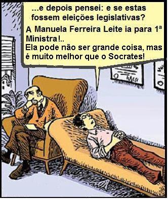 abixo o PS viva Ferreira Leite, João Jardim e Santana Lopes