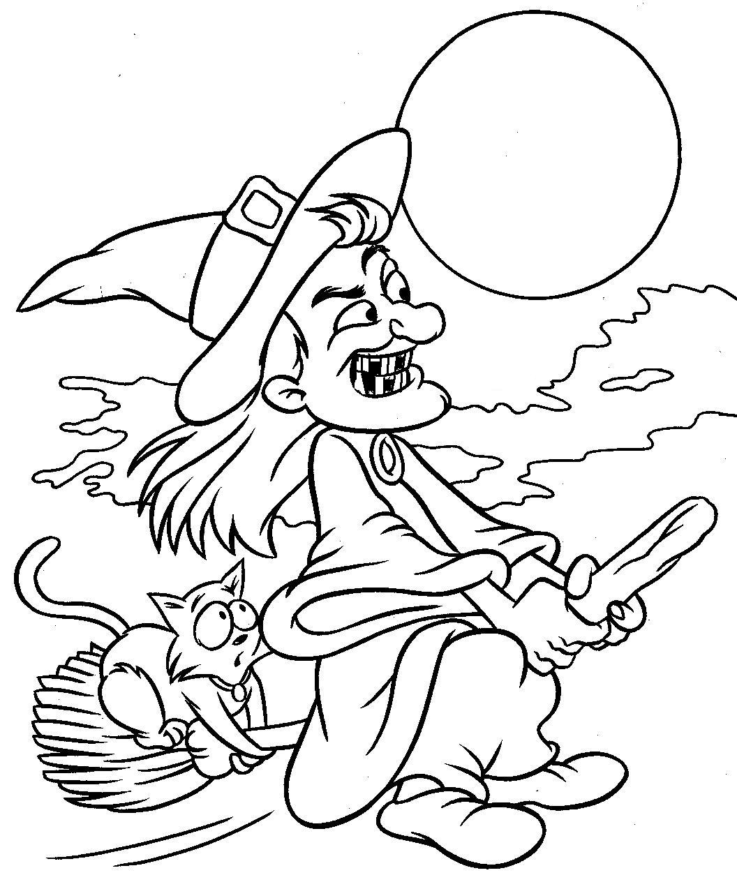 Halloween coloring pages free printable pictures for Halloween printable color pages