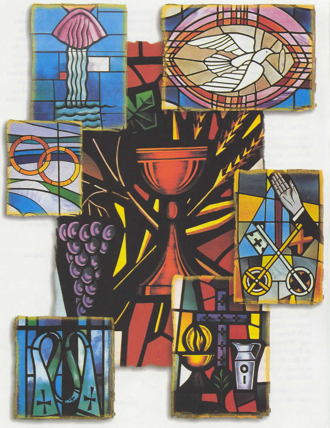 signs and symbols of seven sacraments Catholic signs and symbols which is consecrated by a bishop chrism is used in the sacraments of baptism, confirmation, and holy orders.