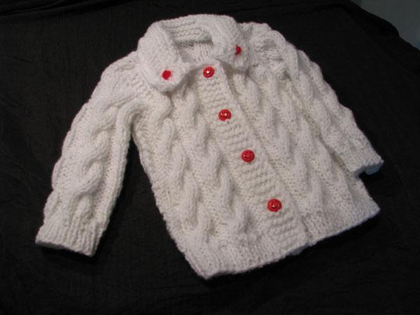 Abrigos tejidos a palillo para niña - Imagui