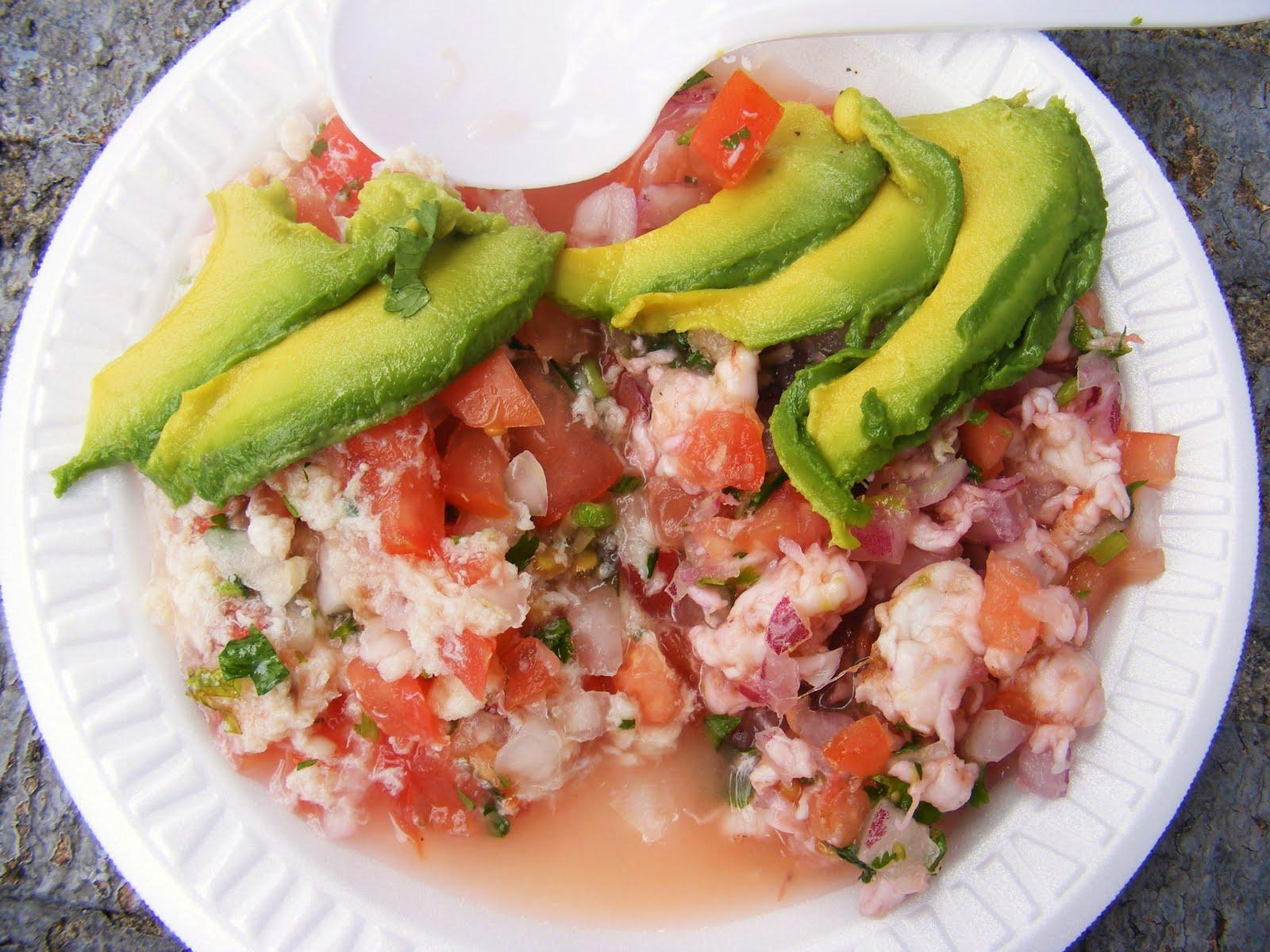 Ceviche de camaron(shrimp ceviche)
