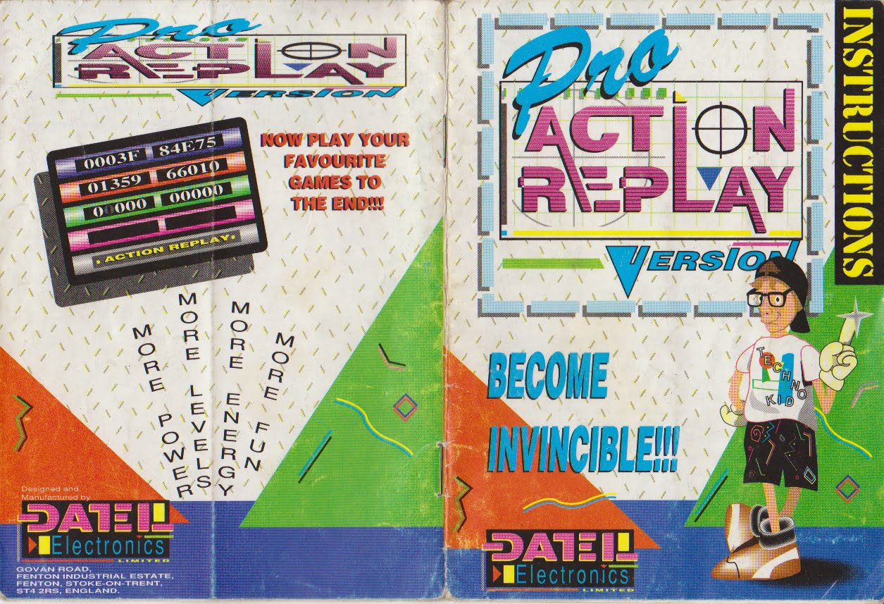 SNES Pro Action Replay Instruction Manual