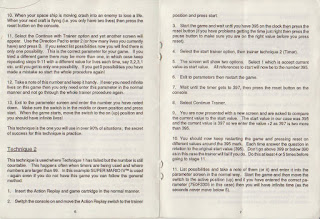 SNES Pro Action Replay Instruction Manual Download PDF