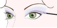 maquilhar e maquilhagem de olhos verdes