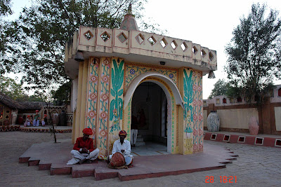 Chokhi Dhaani in Jaipur - An angular view of the temple at the entrance