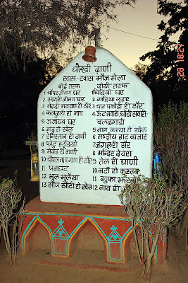 Chokhi Dhaani in Jaipur - The sign post inside the village