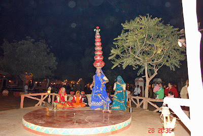 Chokhi Dhaani in Jaipur - A traditional dance performance outdoors
