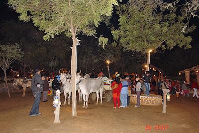Chokhi Dhaani in Jaipur - A bullock cart ride