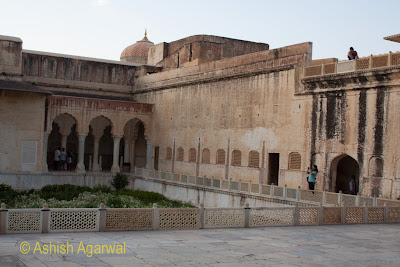 View of a slightly older section of the Amer Fort in Jaipur