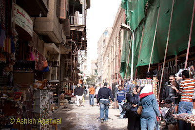Khan el Khalili market in Cairo - starting to move inside