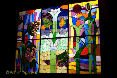 Basma Hotel in Aswan - beautiful stained glass window near the lobby of the hotel