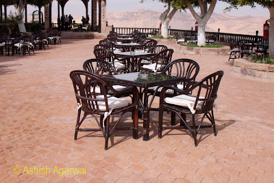Basma Hotel in Aswan in Egypt - view of the outdoor dining area with a great view