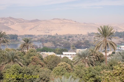 Basma Hotel in Aswan - view of the river Nile and its bends along with greenery