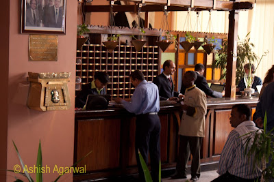 Basma Hotel in Aswan - hotel staff at the reception handling guests