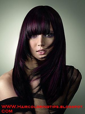 dark purple hair color make hairstyles