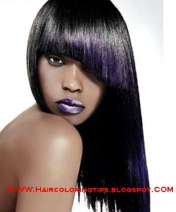 Purple black hair colour,Modern Purple black hair colour,Purple black hair