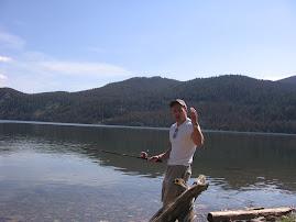 Scott fishing near Breckenridge