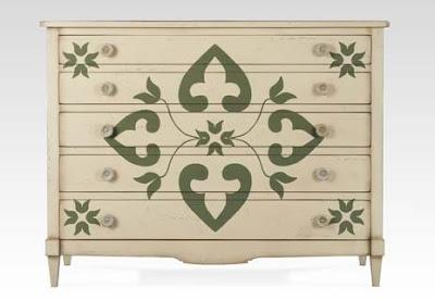 stencil ideal para dar vida a muebles viejos