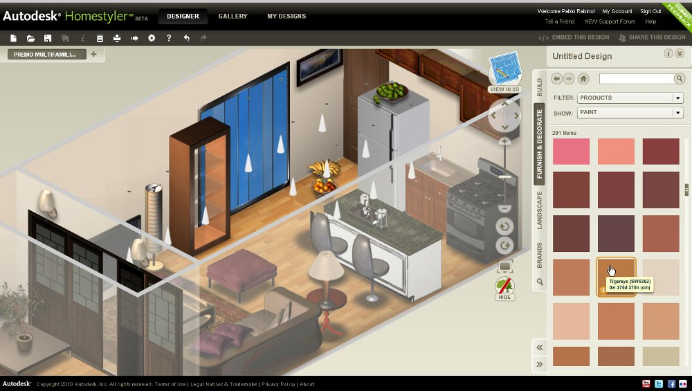 Dise a y decora con autodesk homestyler for Disenar casa online con autodesk homestyler
