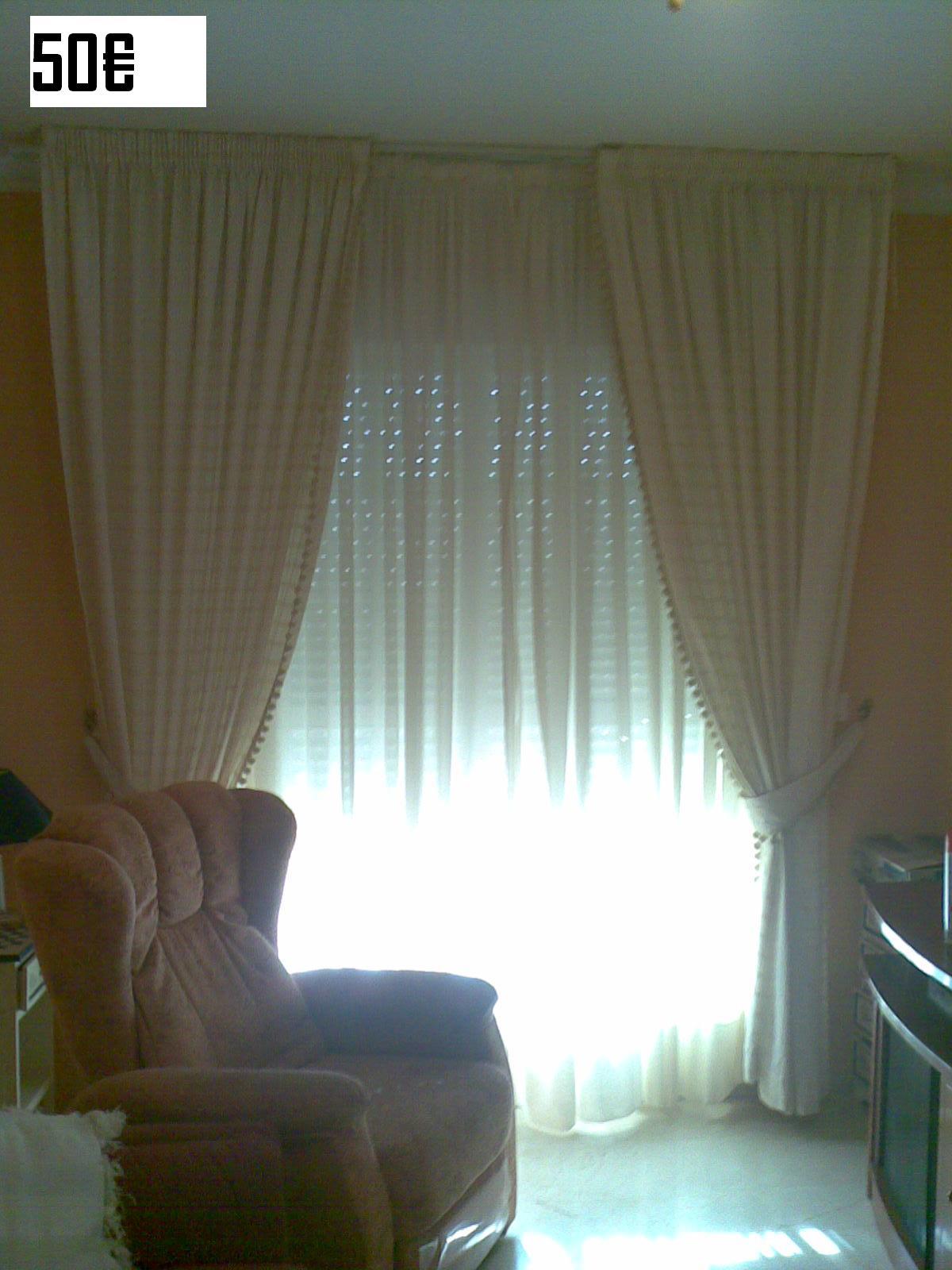 Venta mobiliario por traslado urgente cortinas beigs - Visillos y cortinas ...